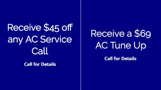 Receive $45 OFF Any AC Service Call